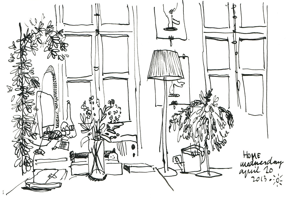 nk on paper, 2013// Encre sur Papier, 2013