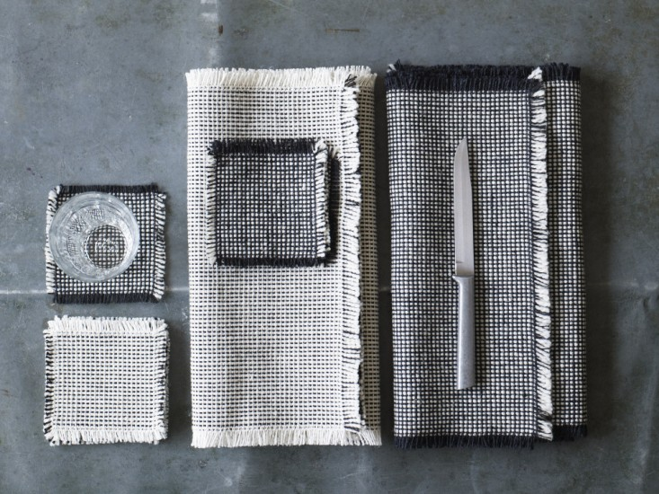 Handwoven coasters and placemats Via  Remodelista