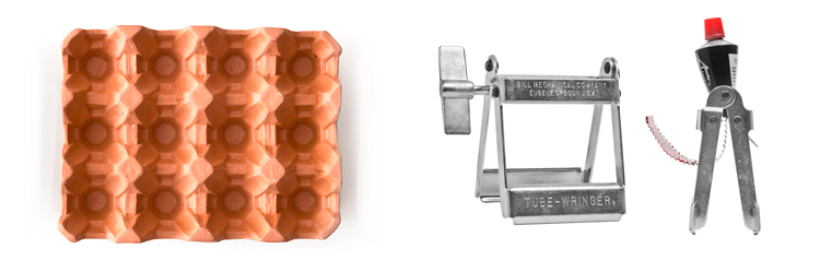 I have been drooling over these two objects from Kaufmann Mercantile for a looong while. I just picture myself living in the country side, checking the coop every morning and storing my freshly laid eggs in the  terracota rack  ! The  tube wringer  ? To soothe my obsession for getting the last drop out of everything