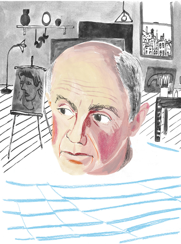 Portrait of PIcasso by Rebecca Clarke