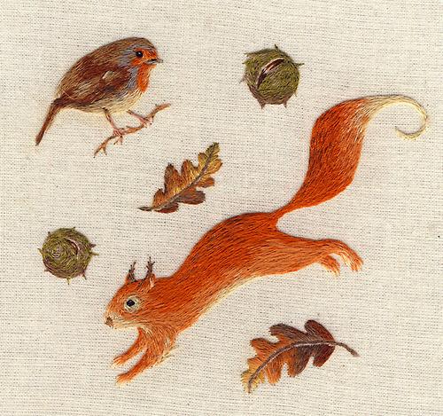 Amazing embroidery skills by  Chloe Giordano