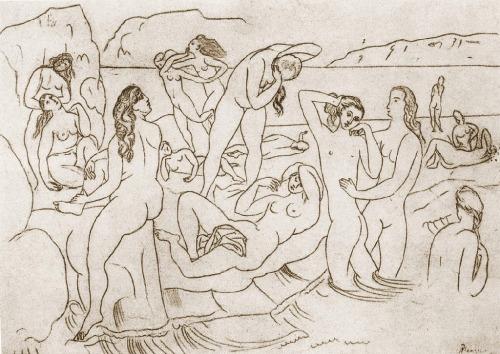 Pablo Picassso,  Les baigneuses , 1918