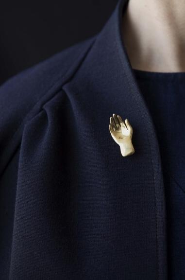 Duoh's Mano de Santo brass brooch