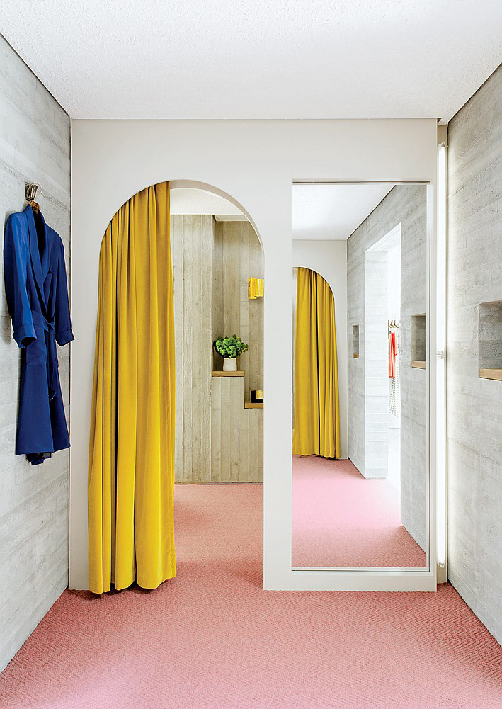 [[Soft pink + Yellow + Blue = Rachel Comey store in NYC///Rose pâle + Jaune + Bleu = Boutique Rachel Comey à NYC]]