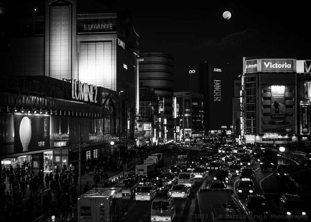 Moon in Shinjuku