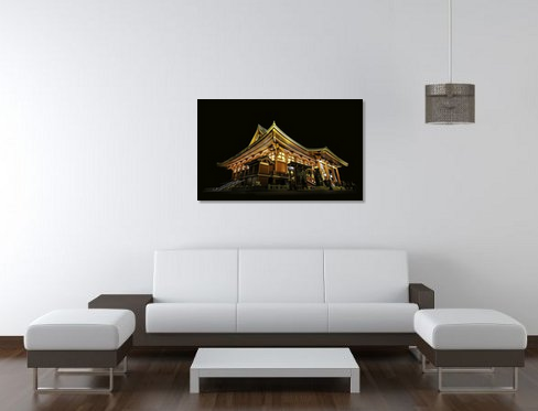 Japanese Temple - Canvas