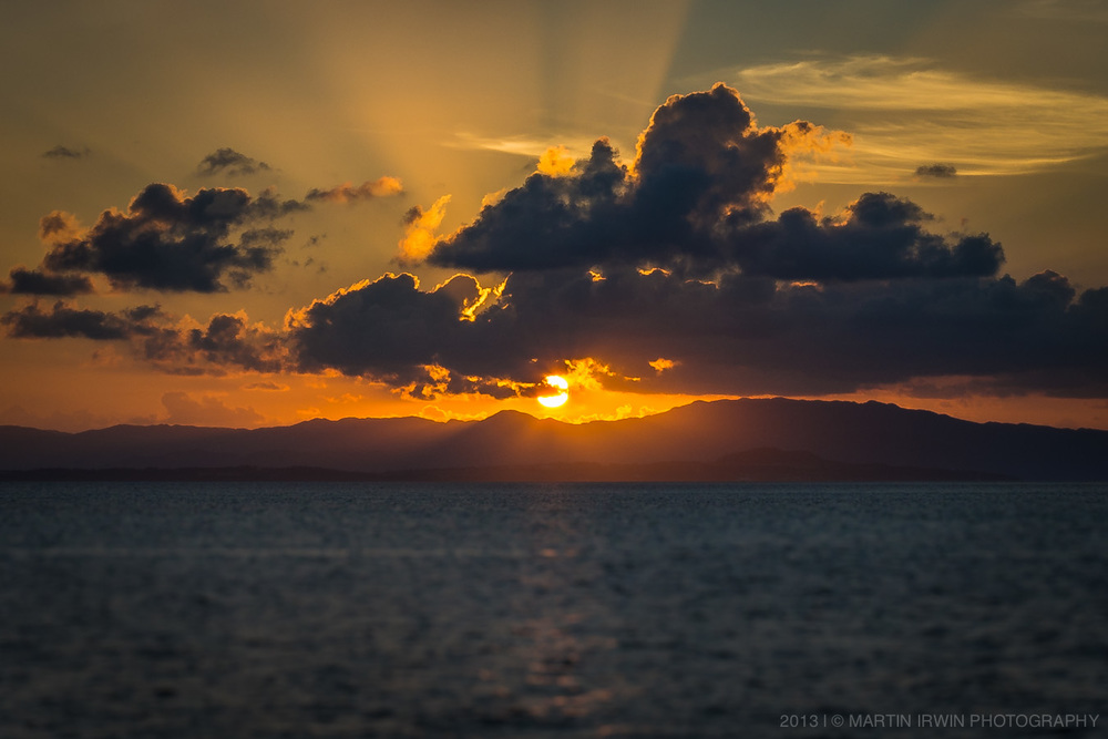 Sunset over Iriomote island (西表島)