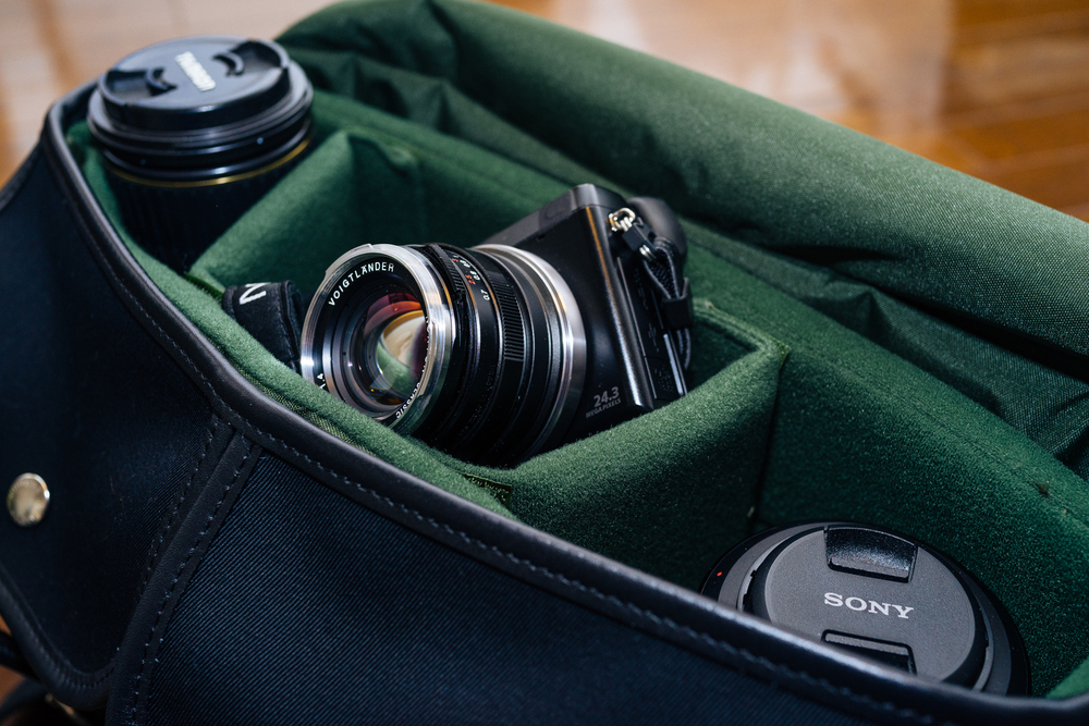 On NEX-7, packed inside my  Billingham Hadley Pro  (click photo for review)
