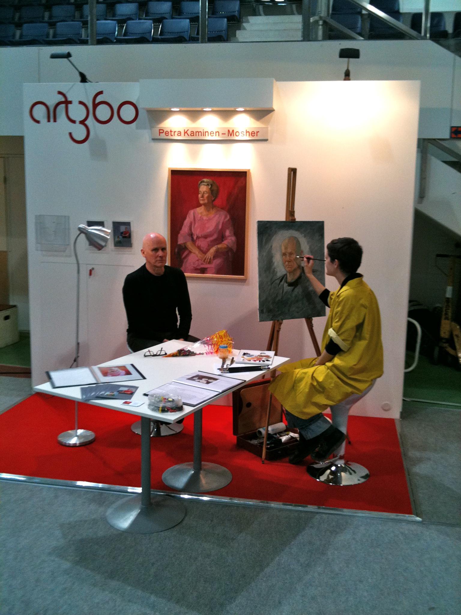 Art360 booth at the Rakentajamessut 2010