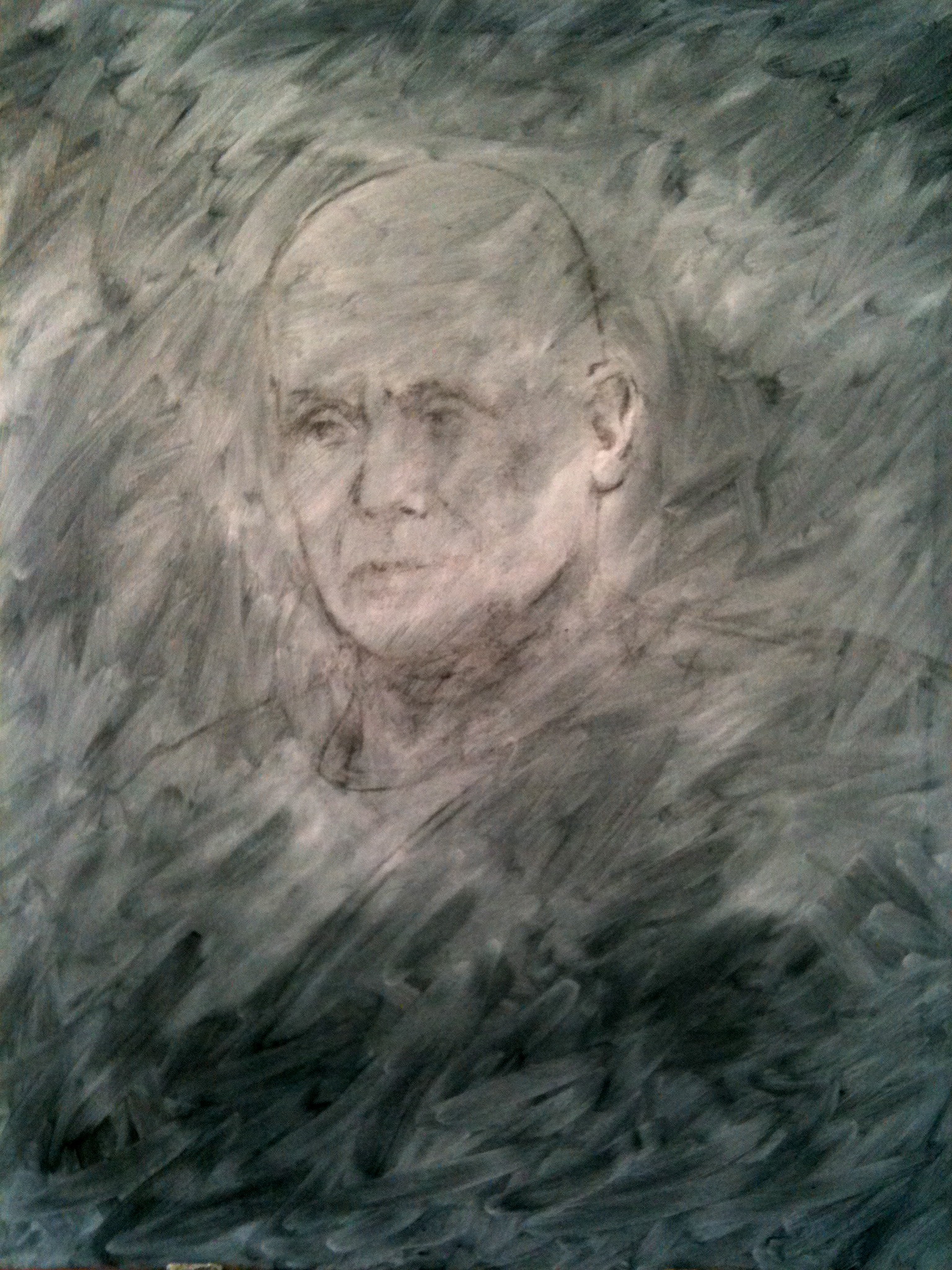 underpainting for portrait of Kalervo