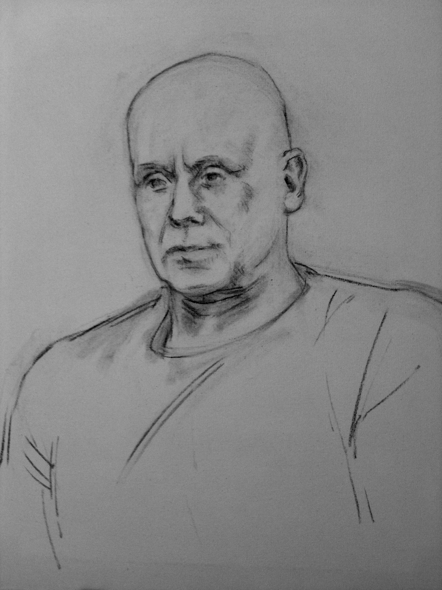 underdrawing for portrait of Kalervo