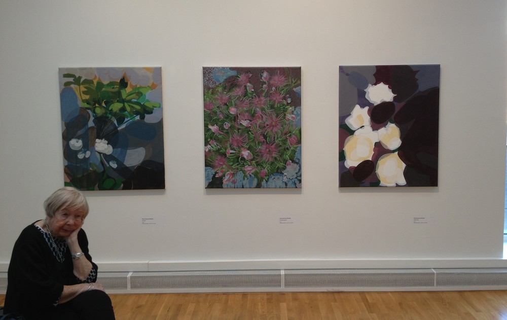 Three Abstracted Flower Paintings