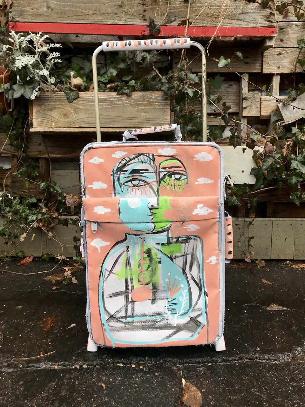 Saint Christopher , suitcase . SOLD