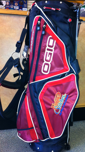Embroidered golf bag