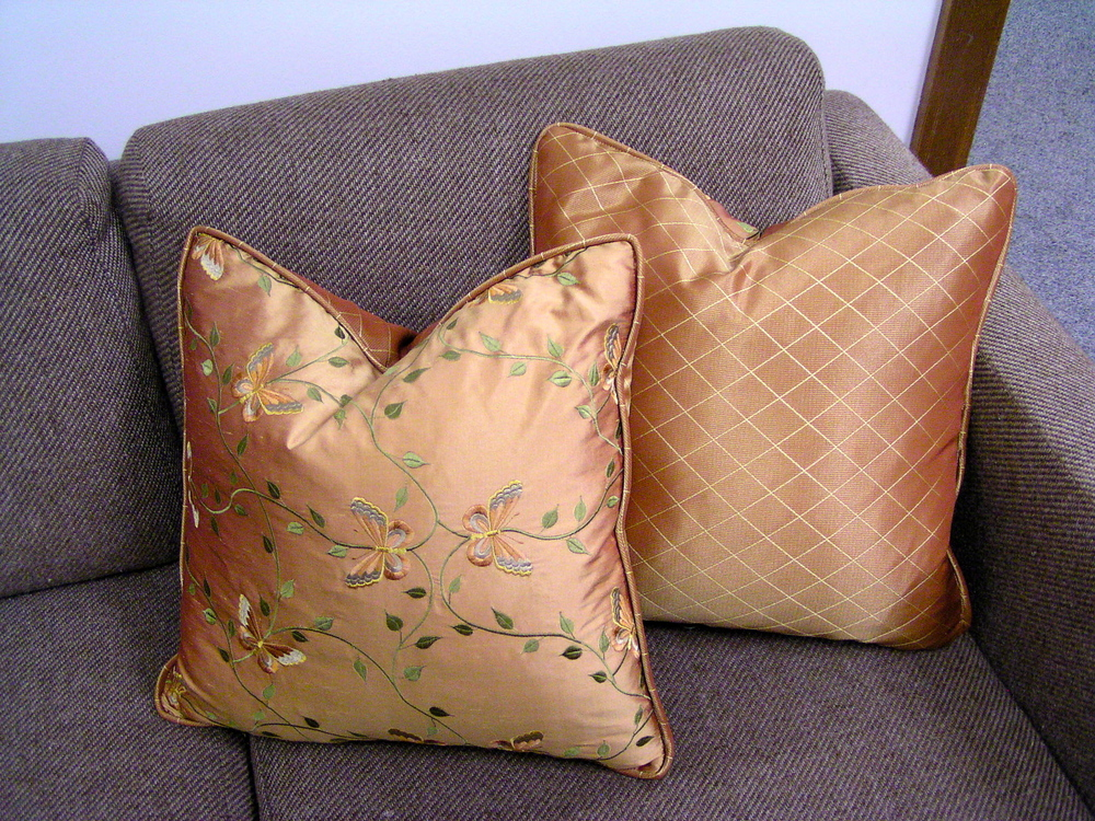 Custom sewn throw pillows