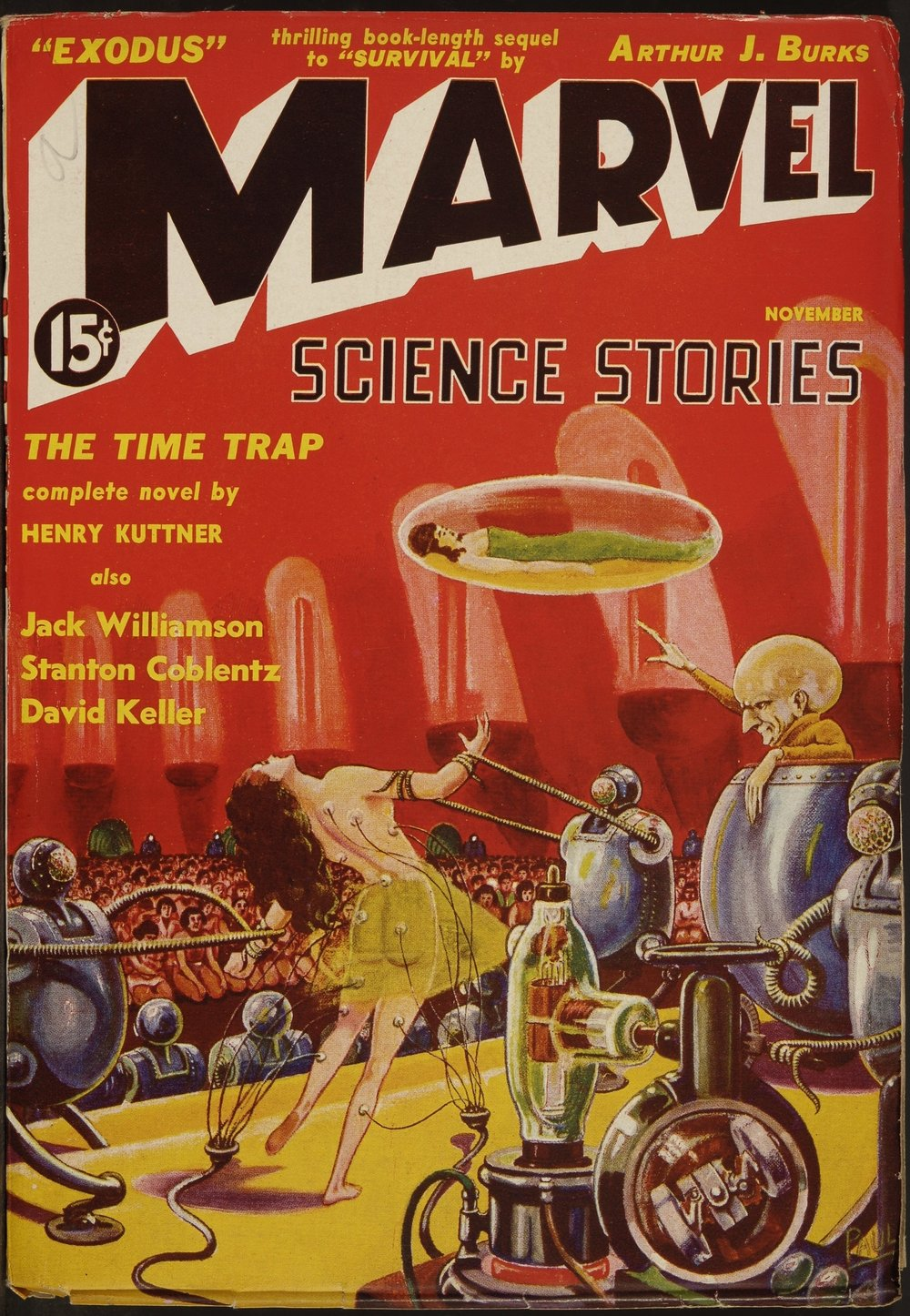 Marvel Science Stories, vol. 1 n°2, novembre 1938. Collection Maison d'Ailleurs