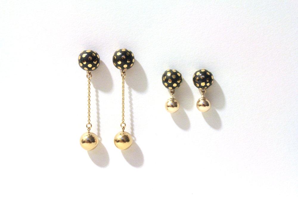 Ladybug Stud Drops (long & short)