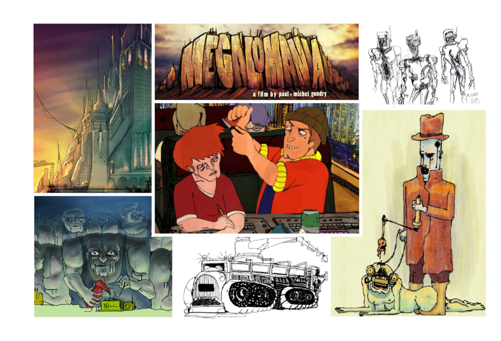CP / Megalomania / Michel and Paul Gondry Animated Feature Development