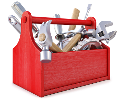 Toolkit containing various tools