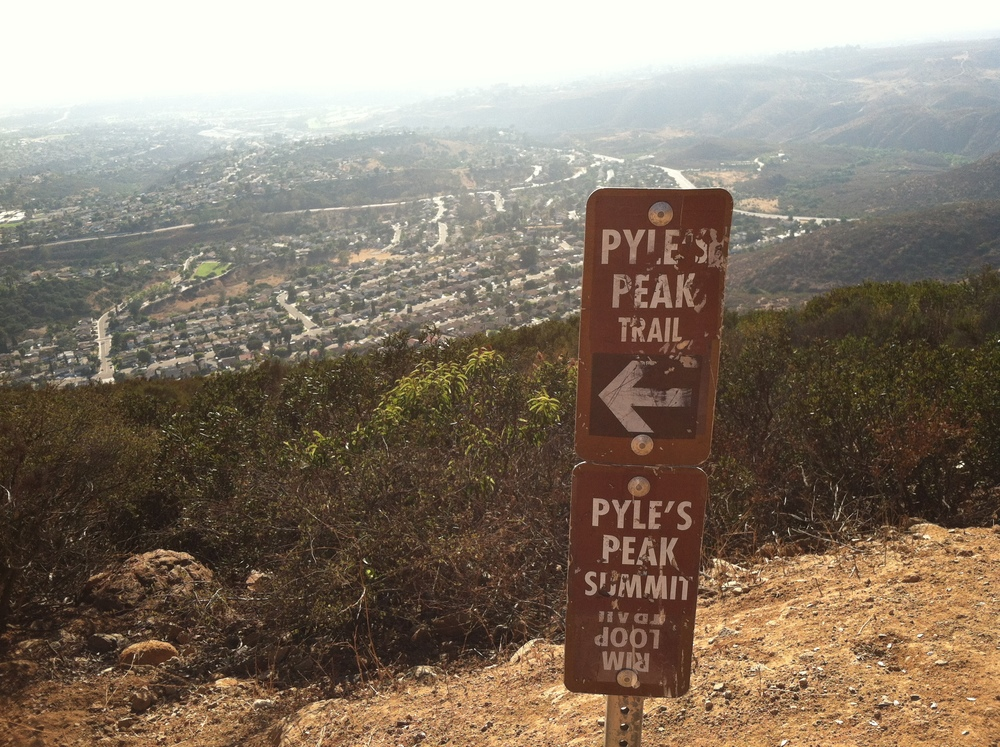 The Pyles Peak trail head.