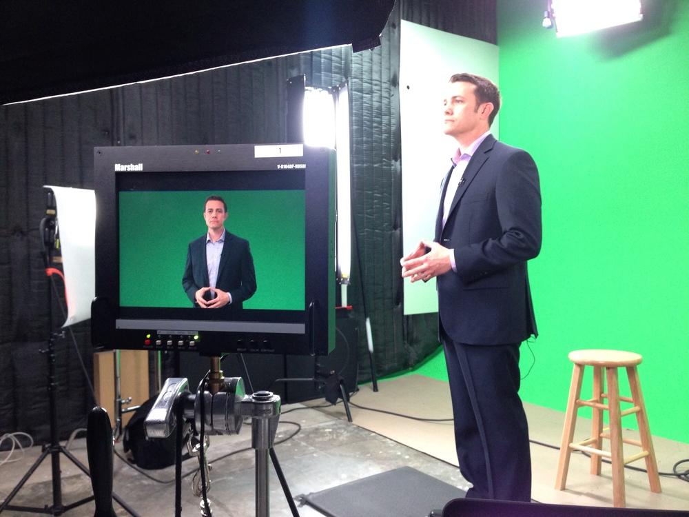 Jeff Toister on the set at lynda.com