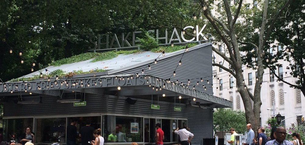 Shake Shack's original location in NYC's Union Square. Yes, that is Al Roker in the lower right corner. Photo credit: Jeff Toister