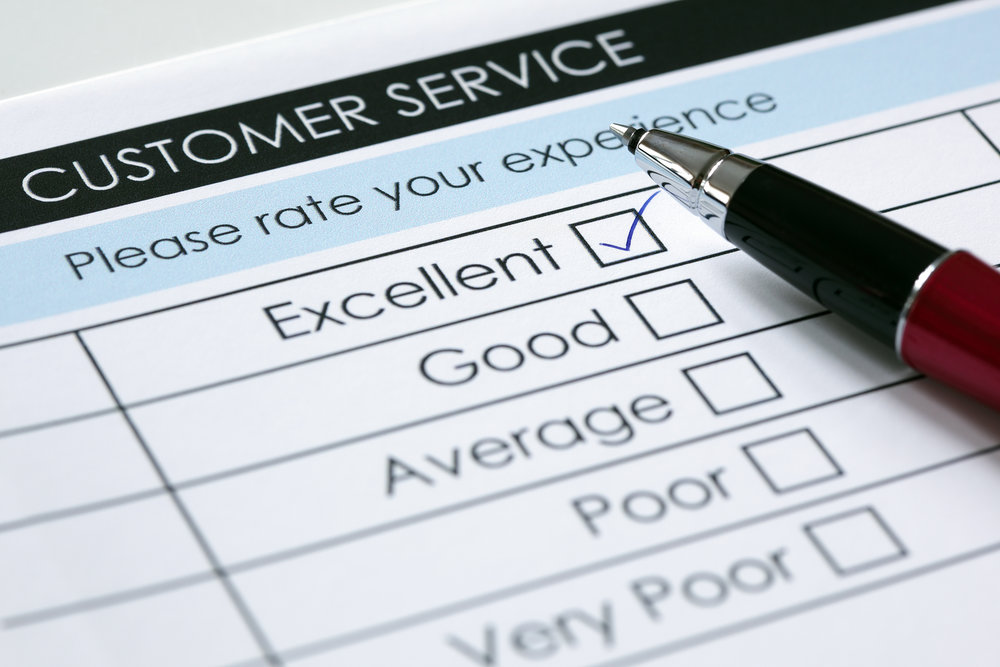 Customer service survey.