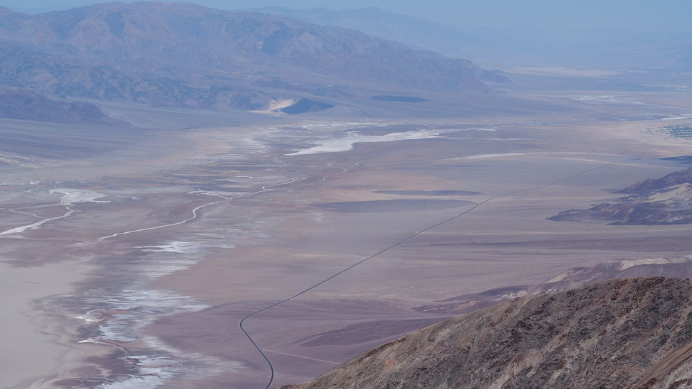 View from Dante's View, overlooking Death Valley, California.