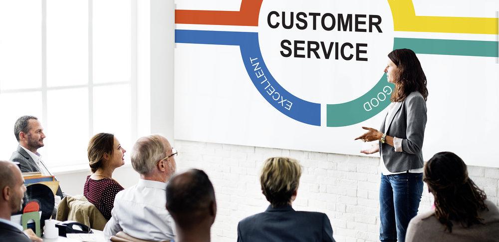 Customer service training class