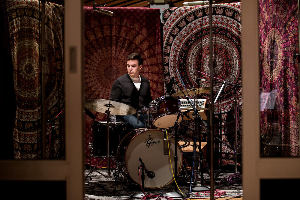 "Recording for a Sundance film, ""Gook"". Recorded at Jim Henson Recording Studios"
