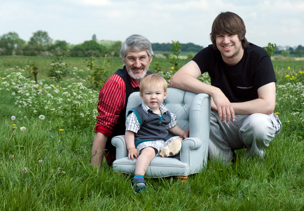 Founder Edward Crowther with son Ed and grandson, Zac.