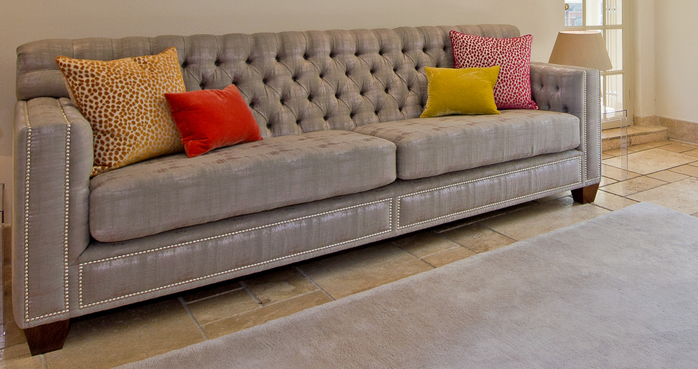 Bespoke Sofa produced for  Sophie Peckett Design www.sophiepeckettdesign.com
