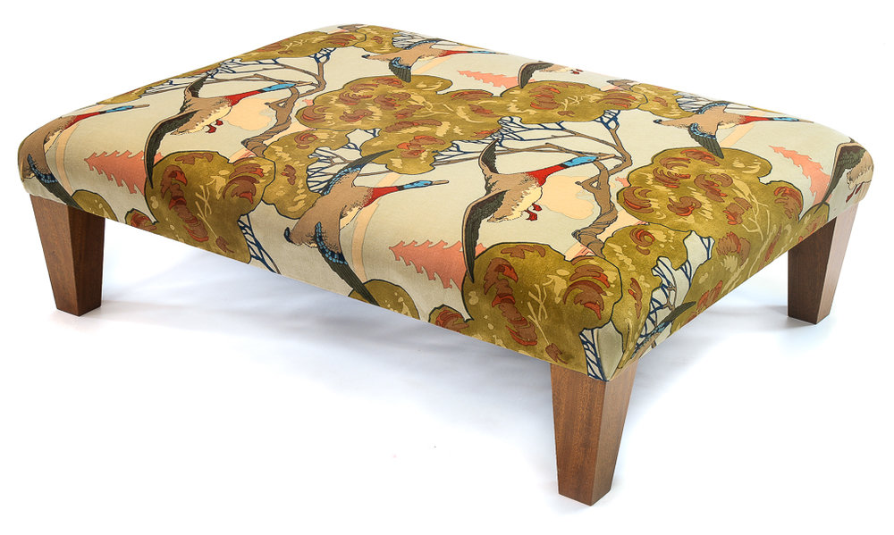 High quality Footstools and scatter cushions Made to order with your own dimensions and requirements to add a touch of glamour to any lounge.