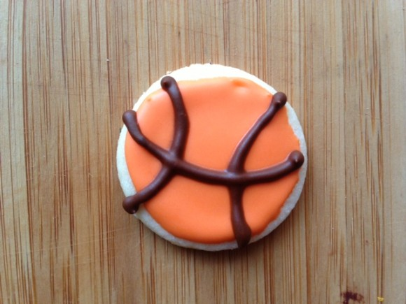 basketball sugar cookie