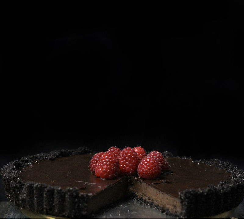 Dark Chocolate Raspberry Torte