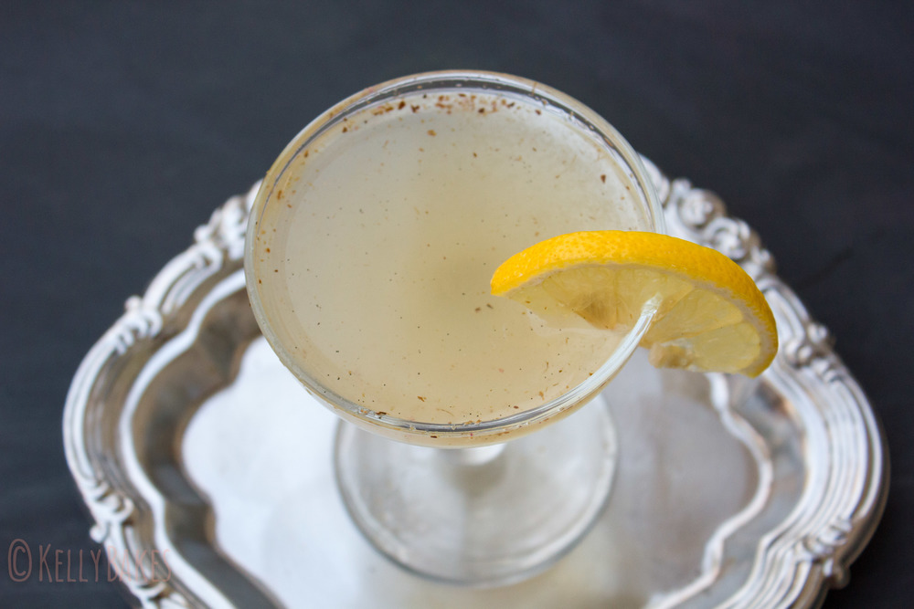 pear lavender lemon drop martini