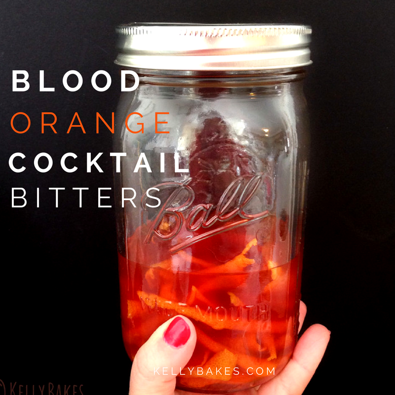 DIY Blood Orange Cocktail Bitters by @kellybakes