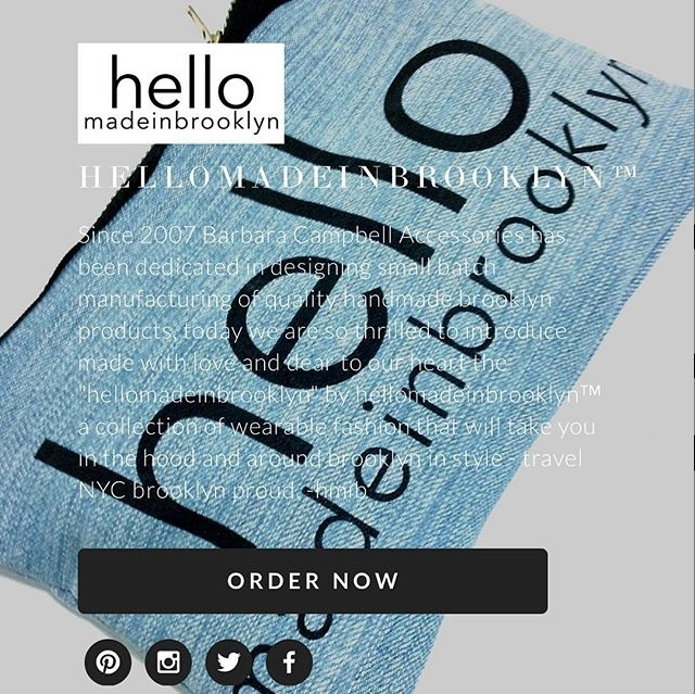 Barbara Campbell Accessories LLC ™ : Manufactures © hellomadeinbrooklyn ™ Products  hello made in brooklyn ™ handbags: fashion jewelry clothing hair accessories: handmade denim clutch bag product