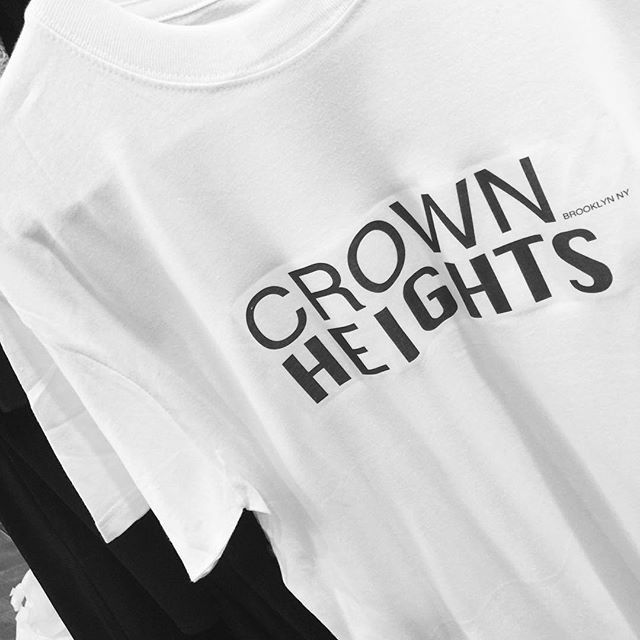 18d67e700 BARBARA CAMPBELL T-SHIRTS: CROWN HEIGHTS Brooklyn NY Logo - Women's and  Men's Cotton White - T- Shirt From Barbara Campbell NYC — Barbara Campbell  NYC Made ...