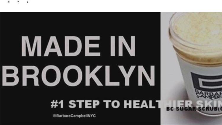 Barbara Campbell™ 100% Natural Brooklyn Sugar Scrub Face Cleanser