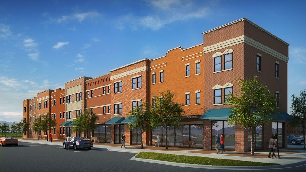 11th Street Retail  rendering by cagleart.com