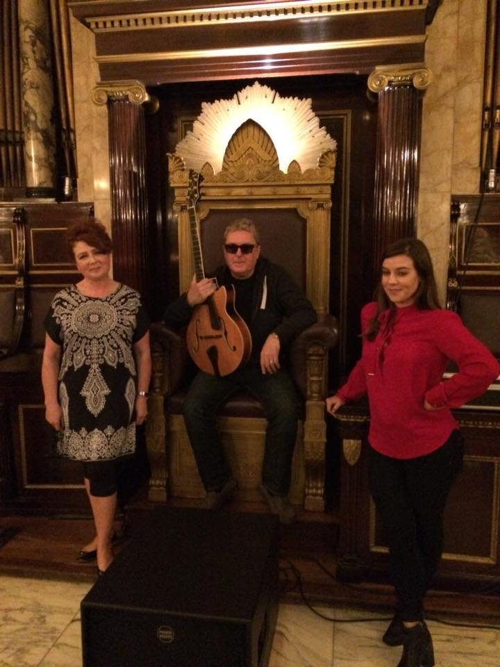 L to R: Alison Burns, Martin Taylor MBE and Nora Germain at City of London Festival Performance. 2015.