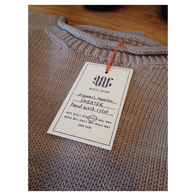 We have tags! (And sweaters.)