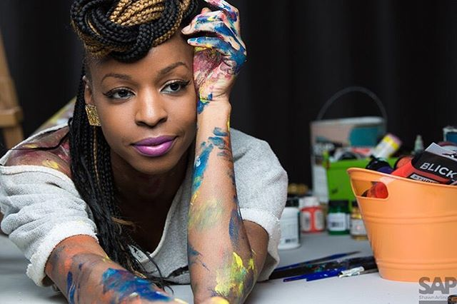 """I had the wonderful opportunity to interview Brooklyn-based abstract artist, Tiffany B Chanel of @tiffanybchanel . She is a passionate artist and creative Who understands the importance of building trustworthy relationships with her community. 