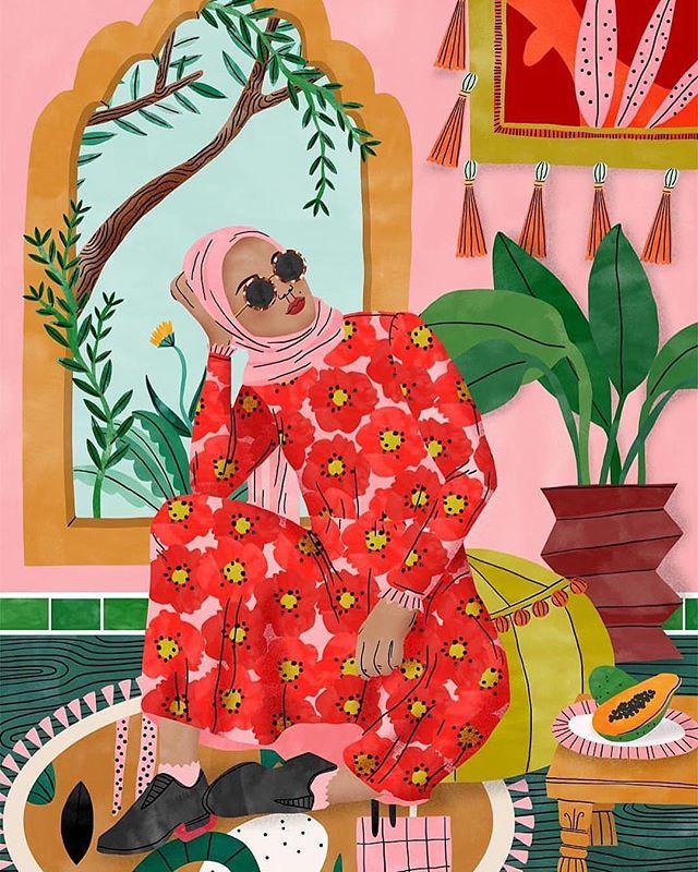 """Moroccan Dreams"" (crop) || Art by Bodil Jane || Illustrator || Amsterdam #womeninart"