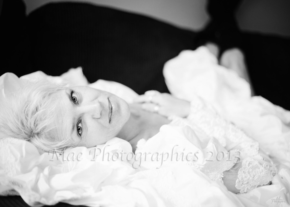 Mrs R really wanted a few images with her wedding dress, which still fit!  So she brought it out of its box, where it's been carefully stored for nearly 25 years, put it on, and we created a little magic.  There are many, many more, but I love the softness of this stunning black and white image.