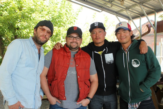 From left to right:Elliot Moss, Mike Moore, Dennis Lee, Jeff Kim