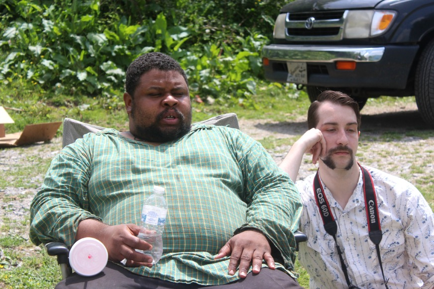 Michael Twitty and Jacob taking a break