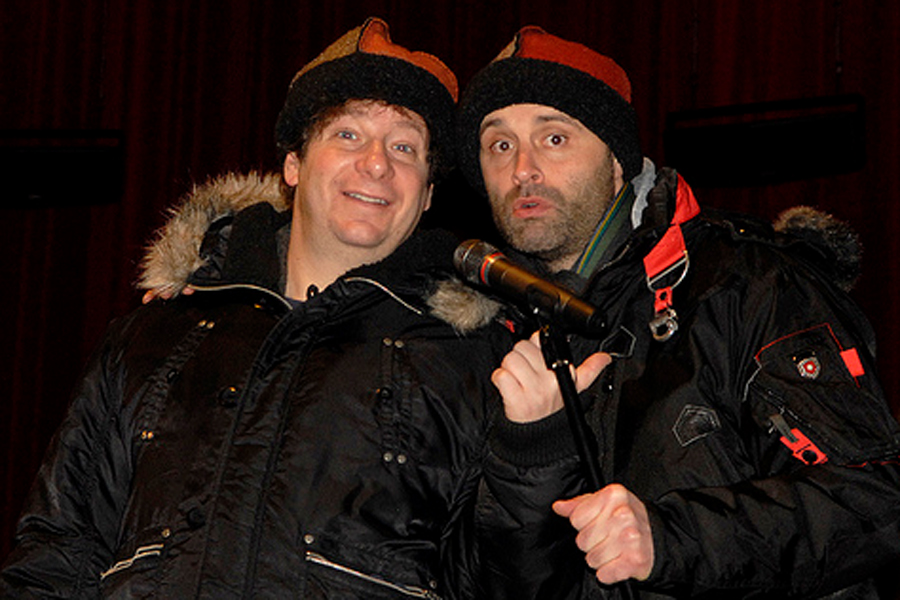Jeffrey Ross and Ted Alexandro sport our seamed hats.