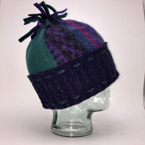 9f9cc47acf0 One fof a Kind Ski Hat 105 — Baabaazuzu Upcycled Wool Clothing